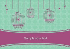 Free vector Vector Vintage Design with Birdcages #7952