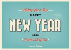 Free vector Vintage Typographic New Year Greeting Illustration #8068