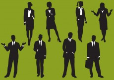 Free vector Woman And Man Business Silhouettes #6175