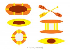 Free vector Water Rafting Vector Icons #10122