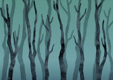 Free vector Watercolor leafless forest #10062