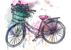 Free vector Watercolor vintage bike #10145