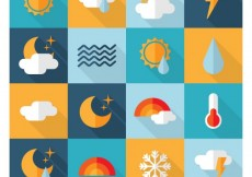 Free vector Weather icons #8452