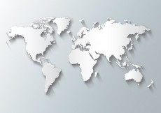 Free vector White world map #11422