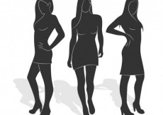 Free vector Woman silhouettes #9196
