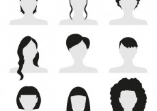Free vector Women hairstyles #8482