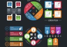 Free vector Workflow infographic elements #11098