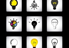 Free vector Abstract bulb icons collection #15623