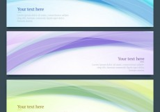 Free vector Abstract waves banners #13044