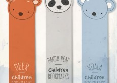 Free vector Animal bookmarks #15835