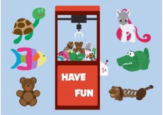 Free vector Arcade Claw Machine Vector with Toys #19176