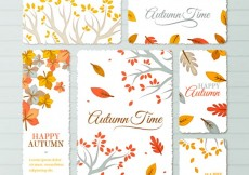 Free vector Autumn time stationery #14189
