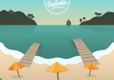 Free vector Background of enjoy summer #15056