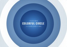 Free vector Background with blue concentric circles #14179