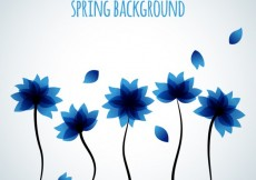 Free vector Background with blue flowers #20082