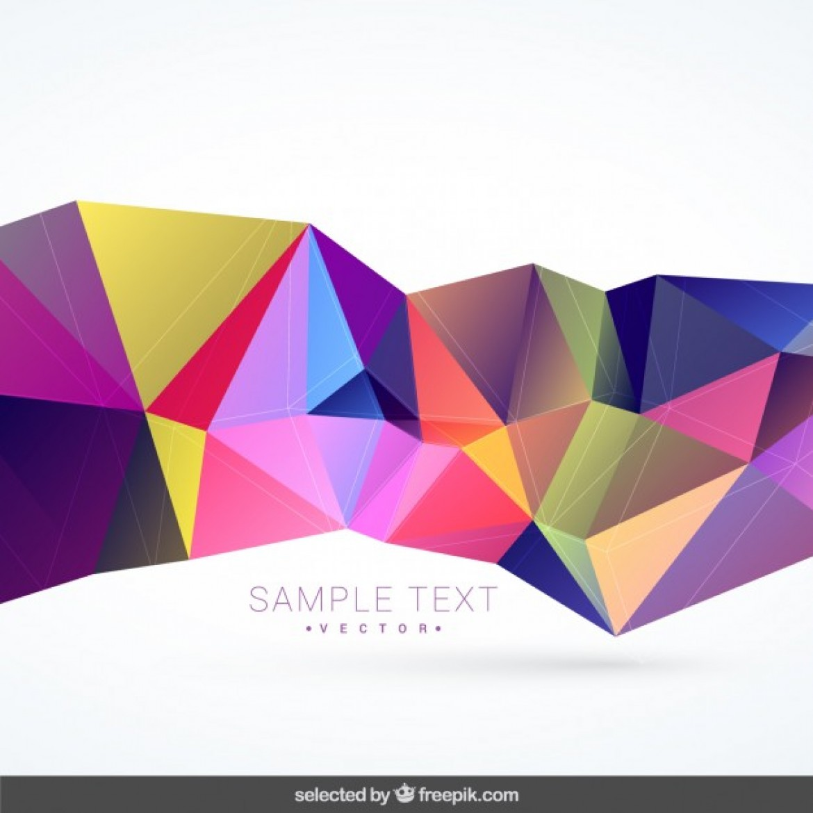 free vector background with colorful polygonal shape