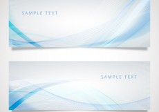 Free vector Banners with blue wave pattern #13070