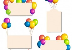 Free vector Banners with glossy balloons #19446