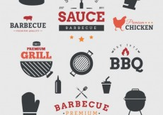 Free vector Barbecue badges #19438