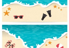 Free vector Beach banners #17446