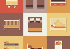 Free vector Bed icons #19988