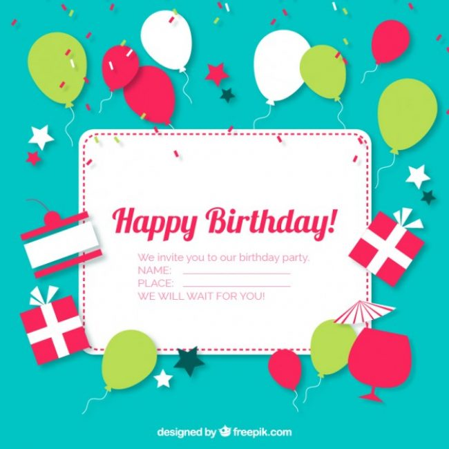 Free vector birthday invitation card 13496 my graphic hunt free vector birthday invitation card 13496 stopboris Image collections