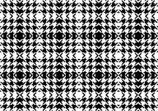 Free vector Black and white houndstooth pattern #18568