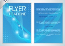 Free vector Blue abstract flyer #14447