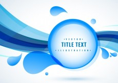 Free vector Blue background with drops and waves #14159