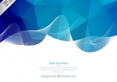 Free vector Blue geometric wave background #12535