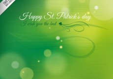 Free vector Blurred background for Saint Patricks day #19522