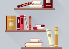 Free vector Books on bookshelves #13016