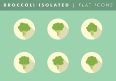 Free vector Broccoli Isolated Icons Vector Free #15901