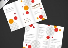 Free vector Brochure design with circles #12265