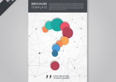 Free vector Brochure with a question mark #17349
