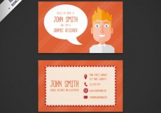 Free vector Business card with a cartoon man #16307