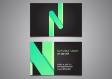 Free vector Business card with alphabet letter #20158