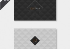 Free vector Business card with geometrical pattern #19167