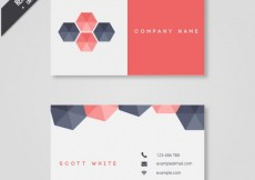 Free vector Business card with hexagons #19164