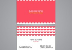 Free vector Business card with lace decoration #20150