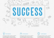 Free vector Business success background #13452