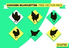 Free vector Chicken Slihouettes Free Vector Pack #16534