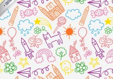 Free vector Children drawings pattern #18755