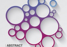 Free vector Circles background in purple and blue tones #19682