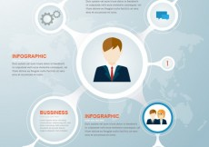 Free vector Circles business infographic #14289