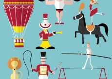 Free vector Circus performance icons #13958