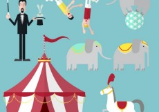 Free vector Circus show icons #13956