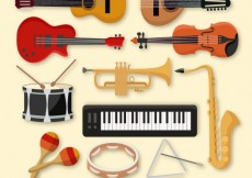 Free vector Collection of music instruments #14887