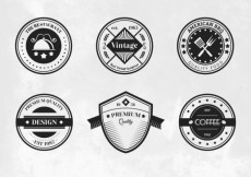 Free vector Collection of retro badges #12309