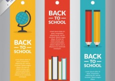 Free vector Colorful back to school banners pack #14520